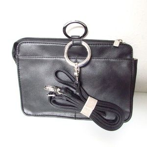 Deluxed Pebbled Leather Crossbody Organizer